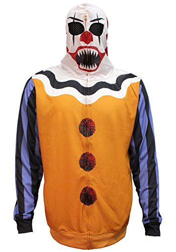 Bioworld Men's Scary Clown Halloween Costume Hoodie (X-Large) Yellow