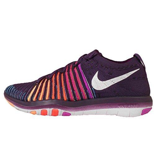 Nike Women's Wms Free Transform Flyknit, GRAND PURPLE/WHITE-HYPER VIOLET-TOTAL CRIMSON, 8 M US by NIKE