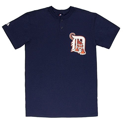 MLB Detroit Tigers Two Button Youth Jersey Shirt Large