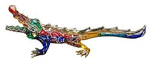 Handmade Alligators Crocodile Art Glass Blown Reptiles Animal (Alligator Decorations)
