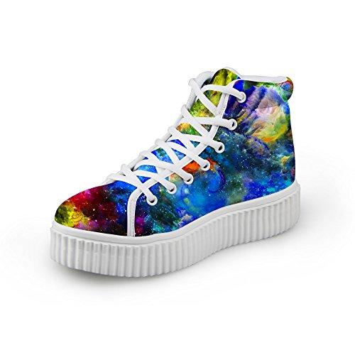 Knuffels Idee Mode Kleurrijk Galaxy Dames Schoenen Platformschoenen Gemengde Kleuren 6
