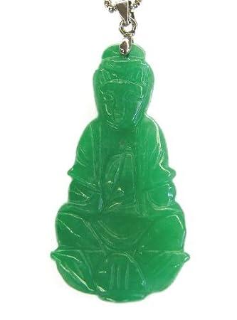 Jade kwan yin pendant amazon welcome jade kwan yin pendant aloadofball Images
