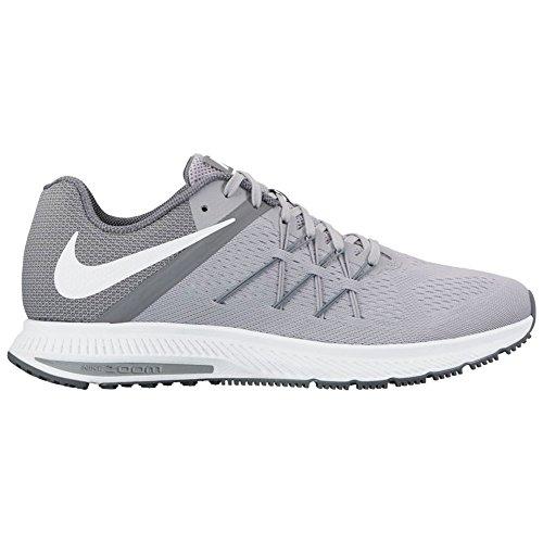 Nike New Mens Zoom Winflo 3 Running Shoe Wolf Grey/White 7.5