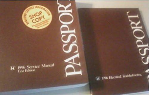 1996 honda passport service shop repair manual set w electrical wiring  diagram: honda: amazon com: books
