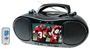 NAXA NDL-254 7-Inch TFT LCD Display Portable DVD Player with AM/FM Stereo Radio, USB Input, SD/MMC Card Slots and AC/DC Power