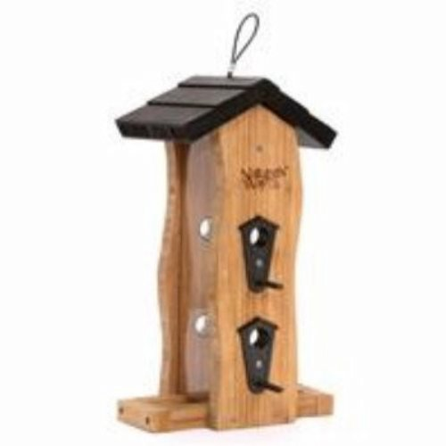 Garden Feeder Bamboo Bird - Nature's Way Bird Products BWF5 Bamboo Vertical Wave Feeder, 14.5 by 8.25 by 8.5-Inch