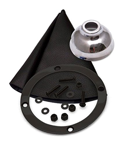 4L60E 12 Trim Kit BLK Push Btn Cap BLK Boot Ringed Knob For D94B4 American Shifter 413814 Shifter Kit 1 Pack
