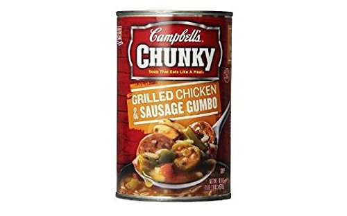 Campbell's Chunky Grilled Chicken & Sausage Gumbo Soup (Pack of 3) 18.8 oz Cans