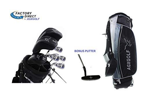 AGXGOLF Ladies Left Hand Petite Length Magnum XLT Complete Golf Club Set w/Ladies Bag & Free Putter