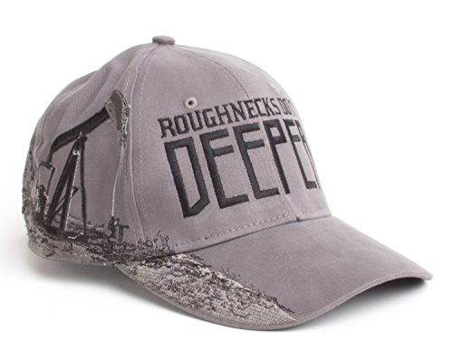 Roughnecks do it Deeper | Oilfield Worker Hat, Fracking, Oil Patch Baseball Cap