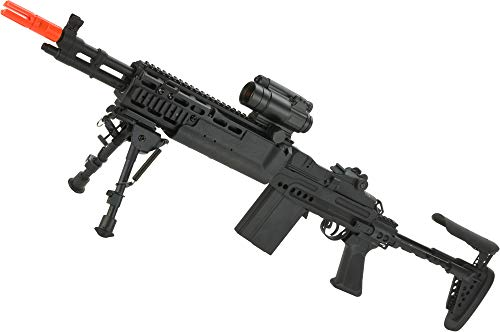 Evike SAGE International Licensed Full Metal Evil Black Rifle M14 EBR Enhanced Airsoft AEG Rifle by 6mmProShop / ASG (Best Airsoft M14 Ebr)
