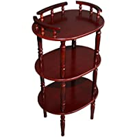 Home Source Industries AF9712 Decorative Phone Stand with 3 Shelves, Mahogany
