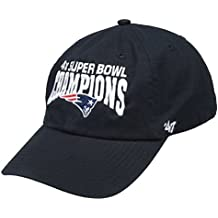 New England Patriots 2014 Super Bowl XLIX Champions 4X Champs Basic Black Knit Beanie Hat / Cap