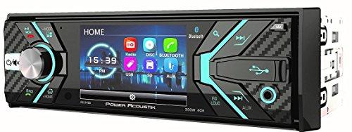 POWER ACOUSTIK 348B 1-DIN CD/MP3, AM/FM Receiver with Bluetooth 4.0 & Detachable 3.2