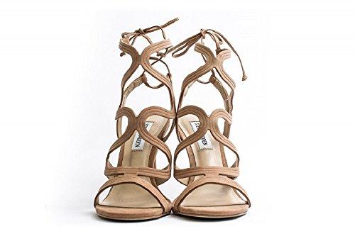 sandali cipria con tacco
