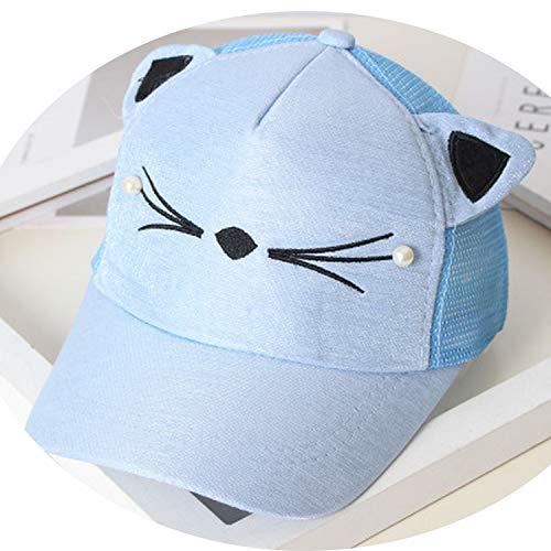 赤ちゃんの女の子 かわいい耳のコーナー 野球のキャップ 子供のリバウンド 夏 調節可能な 帽子,10
