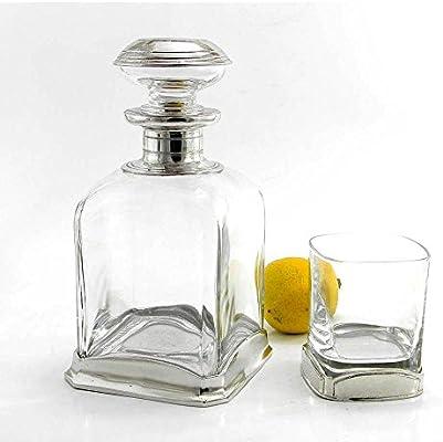 Botella de vidrio soplado y peltre para Whisky Design Minimal ...