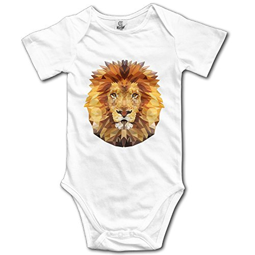 Kids Lion Tamer Costumes (Infants Boy's & Girl's Edgy Lion Short Sleeve Bodysuit Outfits For 6-24 Months)