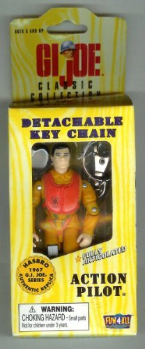 (GI Joe Action Pilot Detachable Key Chain Fully Articulated 4