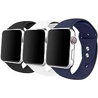 iyou deporte banda para Apple Watch Band, de silicona suave pulsera de repuesto Classic Sport correa para Iwatch 2017Apple Watch Series 3/2/1, Edición, Nike +, todos los modelos/45.9yard más colores elegir