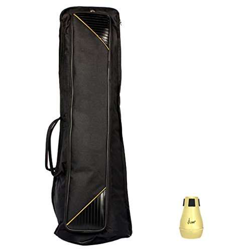 MonkeyJack Portable Tenor Trombone Sordine Mute, Carry Bag Case for Trombonist Musical Instrument Accessory by MonkeyJack