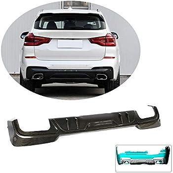 Carbon Color MCARCAR KIT Rear Diffuser fits BMW X3 G01 M40i Sport Utility 4Door 2018-2019 Polypropylene PP Lower Bumper Lip Spoiler Body Kit