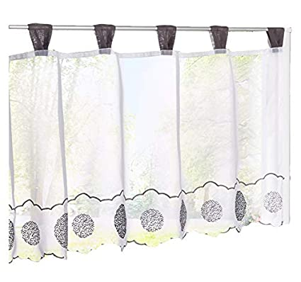 Amazon.com: HomeyHo Window Curtains Sheer Pattern Semi Sheer ...