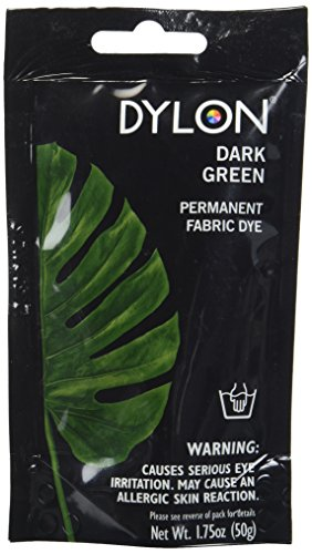 (Dylon 87009 Permanent Fabric Dye, 1.75-Ounce, Dark Green)