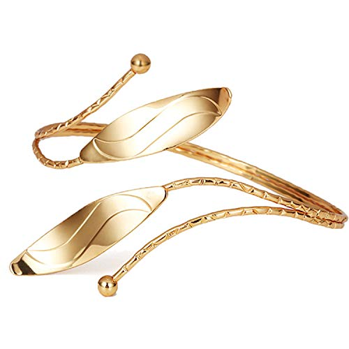 (OCTCHOCO Egyptian Arm Bracelet Upper Arm Cuff Jewelry Arm Bangles Armband for Women Wedding Costume (Gold) )