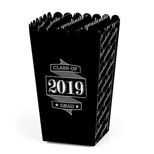 Graduation Cheers - 2019 Graduation Party Favor Popcorn Treat Boxes - Set of 12