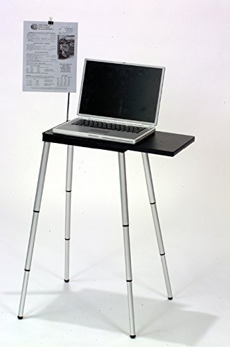 Projector Stand Table - Tabletote Black Portable Compact Lightweight Adjustable Height Laptop Notebook Computer Stand ...