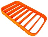 "Cheap STAN BOUTIQUE Silicone Roasting Rack – Baking Racks for Oven Use | Cooking Racks for Sheet Pan – Turkey Roasting Rack Nonstick, Orange (7"" X 10.8"")"
