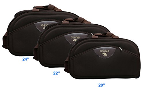 Goyma Brown Color Canvas  amp; Polyester  20,22,24  Inches Travel Duffle Bag Pack Of 3