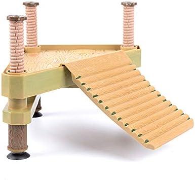 WYBFBYD Turtle Decorativo Muelle Flotante Plataforma para Tomar el Sol con Escalera de rampa, Flotante Tortuga Muelle Terrapin Muelle Ranas Plataforma de rampa de Reptiles: Amazon.es: Productos para mascotas