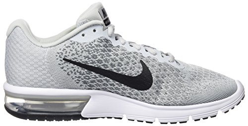 NIKE Mens Air Max Sequent 2 Pure Platinum/Black/Cool Grey Running Shoe 9 Men US sBHQQL1M
