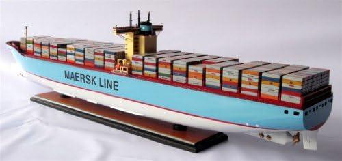 Modellschiff Containerschiff EMMA MAERSK, Schiffsmodell aus Holz, Handarbeit, Spantenbauweise, Modell, Länge 105 cm