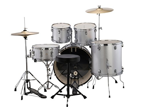 Ludwig Accent Fuse Drum Set in Silver Foil finish ()
