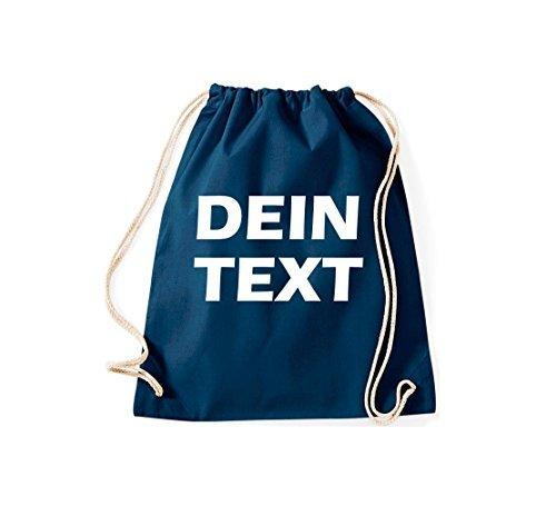 Shirtstown - Bolso de tela de algodón para mujer azul