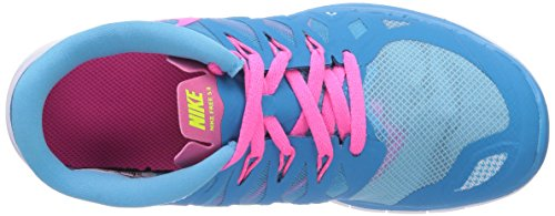 0 Running Powder Nike Kids' Unisex Pink Lagoon Blue White Free 5 Shoes Volt qrqwvpyXEc