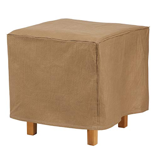 Duck Covers Essential Square Patio Ottoman or Side Table Cover, 26-Inch