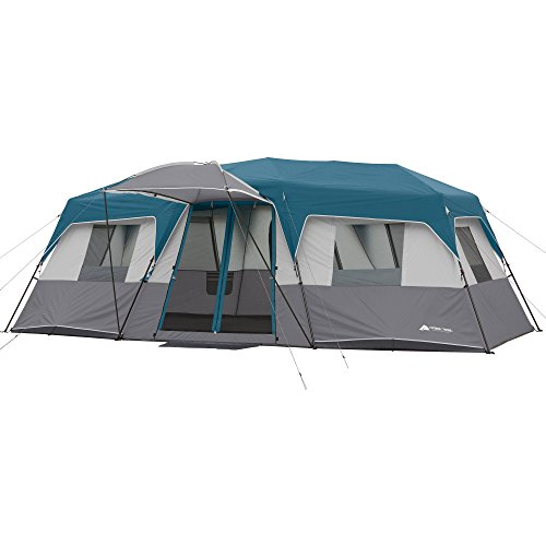 20′ x 10′ x 80″ 12-Person Instant Cabin Family Tent 3-Room Layout with 2 Removable Room Dividers