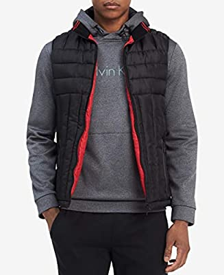 Calvin Klein Mens Small Reversible Puffer Vest Jacket Black S