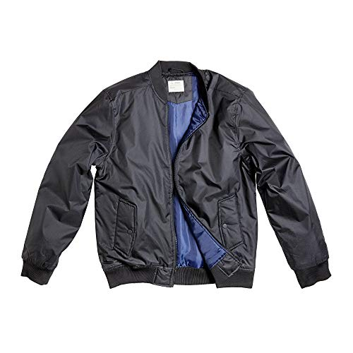(Zak Brand Bomber Jacket Men Military & Flight Style Casual Lightweight Softshell (Black, S))