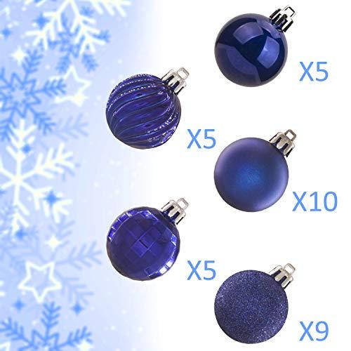KI Store 34ct Christmas Ball Ornaments Shatterproof ...