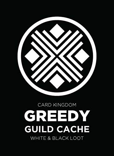 Greedy Guild Cache Magic The Gathering White and Black Rares with Full Art  Basic Land 124 Cards