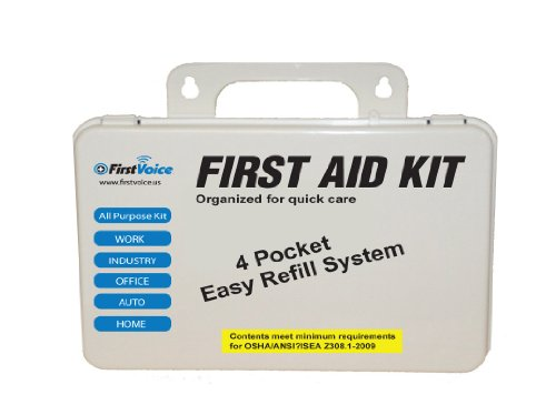 First Voice ANSI-10 10 Person ANSI Compliant First Aid Kit with Plastic Case