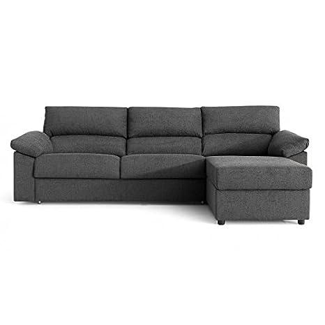 21729c342a2a0 SHIITO Sofa Cama 3 pz. 140 + chaiselongue a la Derecha. Tapizado   Amazon.es  Hogar