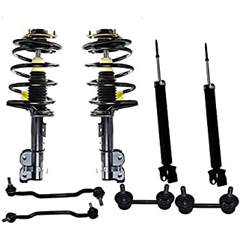 Front Quick Complete Strut Assemblies /& Rear Bare Shock Absorbers Compatible with 2004-2009 Nissan Quest Set of 4