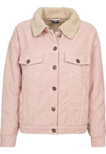Urban Ladies rose Donna Sherpa Giacca Corduroy Multicolore Oversize Jacket Classics 01469 beige 1rxq0zn5w1