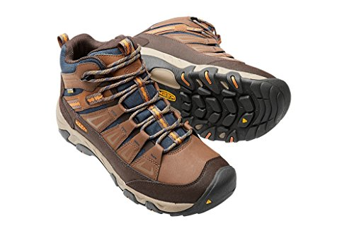 Keen Oakridge Mid Polar Waterproof Boot - Men's Dark Earth/Tortoise Shell 10.5